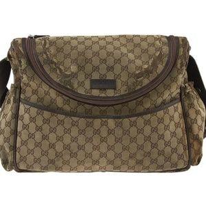 Gucci Monogram Canvas Shoulder Bag